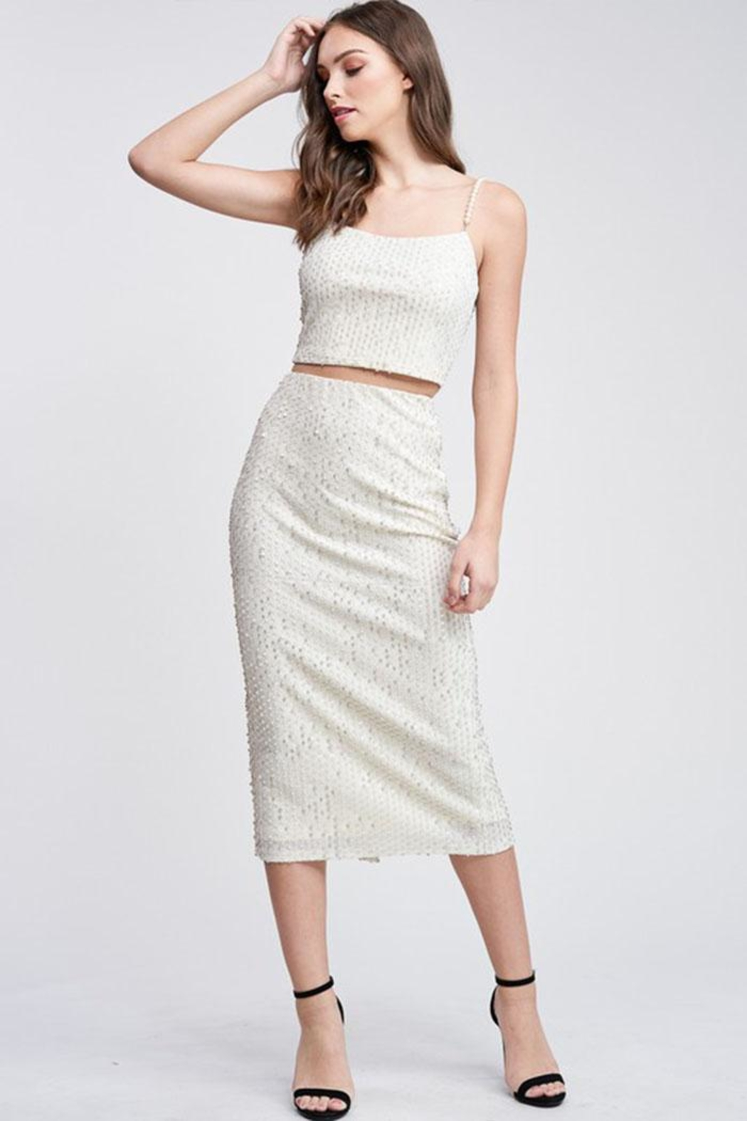 Emory Park Sequin Midi Skirt - Back Cropped Image