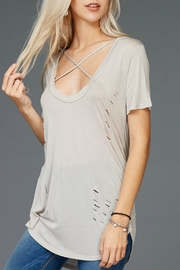 Emory Park Slashed Cross Top - Front cropped