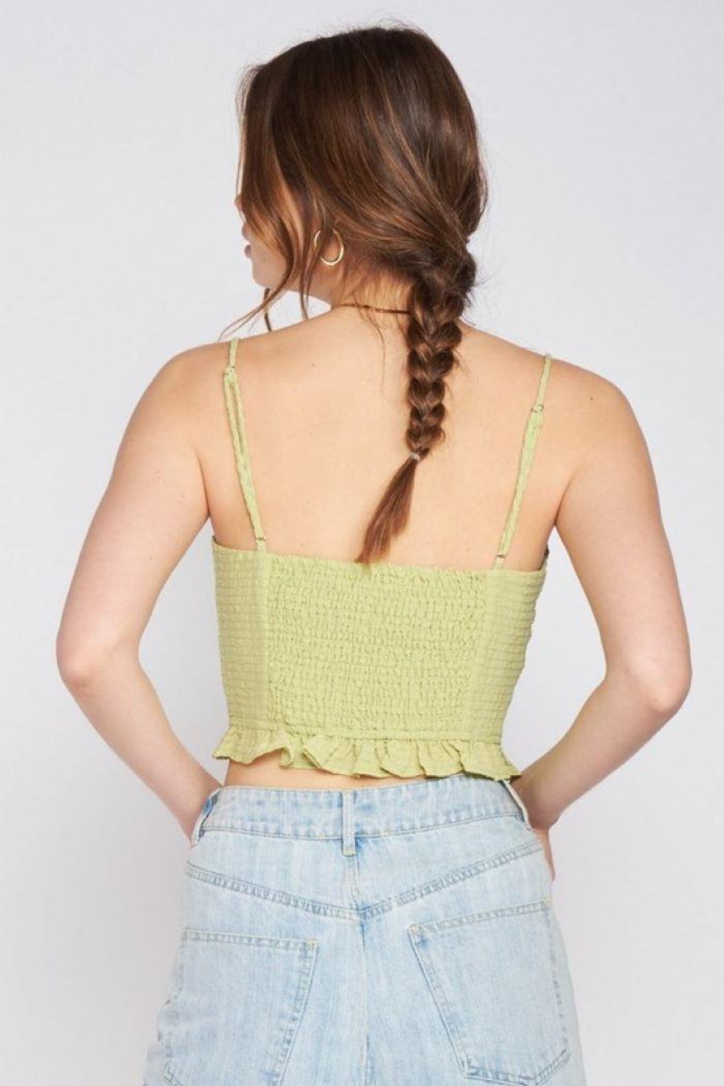 Emory Park Spaghetti Strap Tie Front Top - Front Full Image