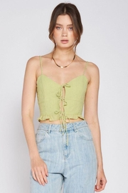 Emory Park Spaghetti Strap Tie Front Top - Other