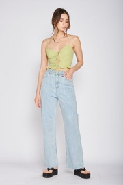 Emory Park Spaghetti Strap Tie Front Top - Back cropped