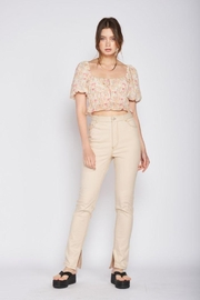 Emory Park Straight Twill Pants With Side Slit - Product Mini Image