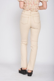 Emory Park Straight Twill Pants With Side Slit - Side cropped