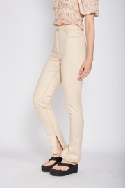 Emory Park Straight Twill Pants With Side Slit - Other