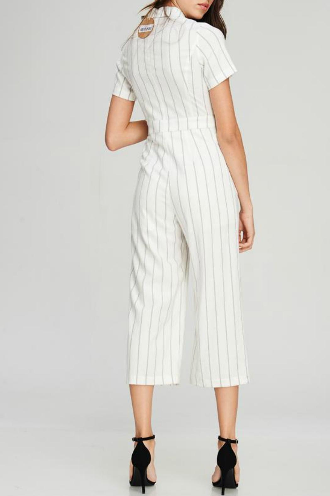 Emory Park Stripe Collared Jumpsuit - Side Cropped Image