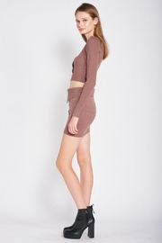 Emory Park Sweater Button Down Crop Top - Other