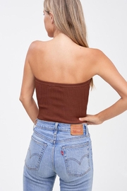 Emory Park Sweater Tube Crop-Top - Front full body