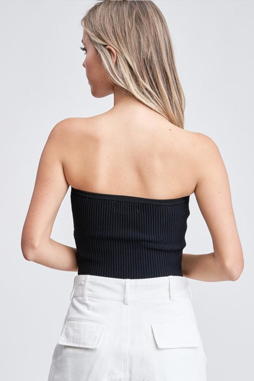 Emory Park Sweater Tube Top - Back Cropped Image
