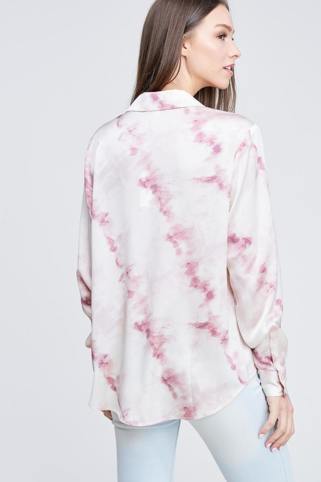 Emory Park Tie Dye Button Down - Back Cropped Image