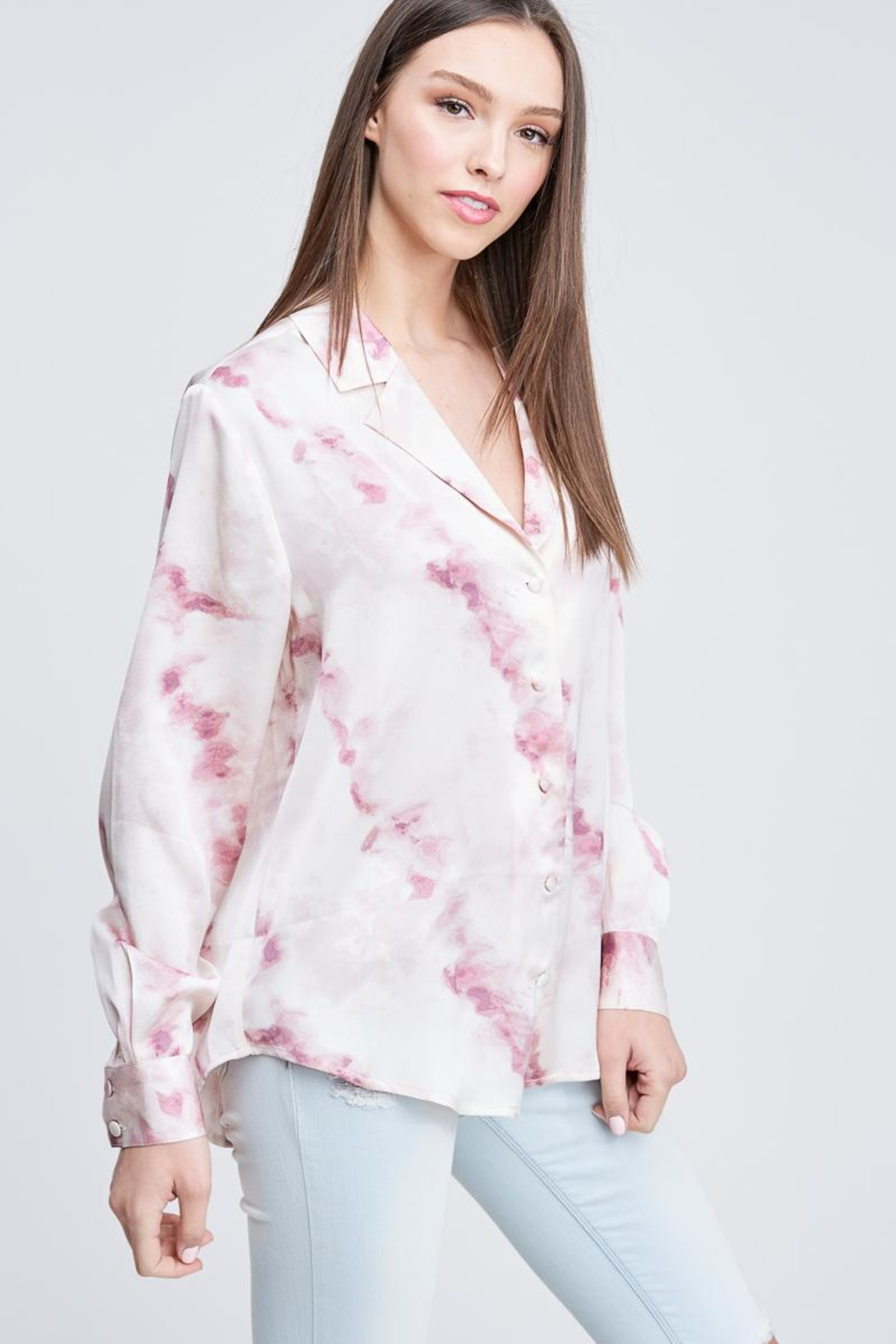 Emory Park Tie Dye Button Down - Side Cropped Image