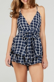 Emory Park Tie Front Romper - Front cropped