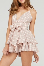 Emory Park Tie Front Romper - Front full body