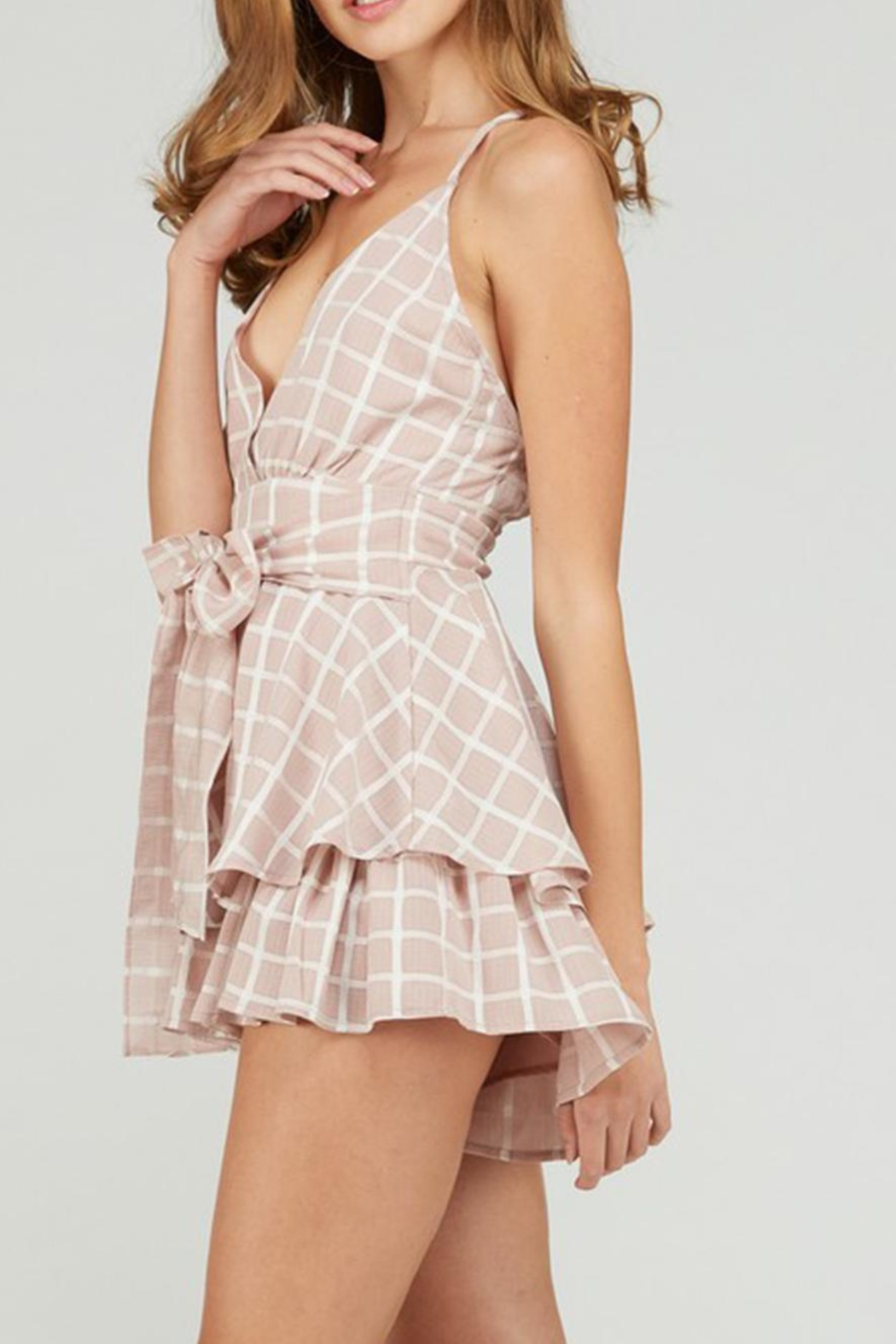 Emory Park Tie Front Romper - Side Cropped Image