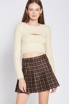Shoptiques Product: Two Piece Fuzzy Sweater Top