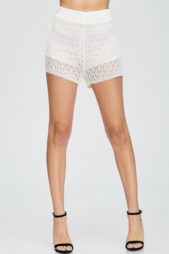 Shoptiques Product: White Crochet Skirt