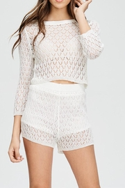 Emory Park White Crochet Top - Product Mini Image