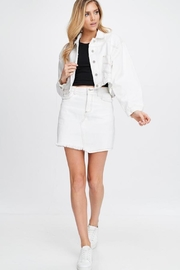 Emory Park White Denim Skirt - Product Mini Image