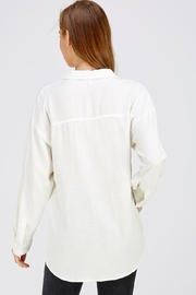 Emory Park White Oversized Top - Back cropped