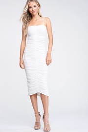 Emory Park White Shirring Dress - Product Mini Image