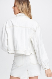 Emory Park White Woven Jacket - Front full body