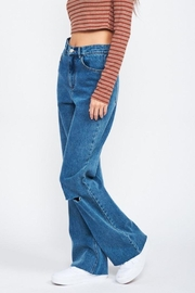 Emory Park Wide Leg Denim Jeans With Ripped Knee - Other
