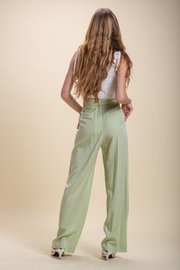 Emory Park Wide Leg Pleated Trousers - Product Mini Image