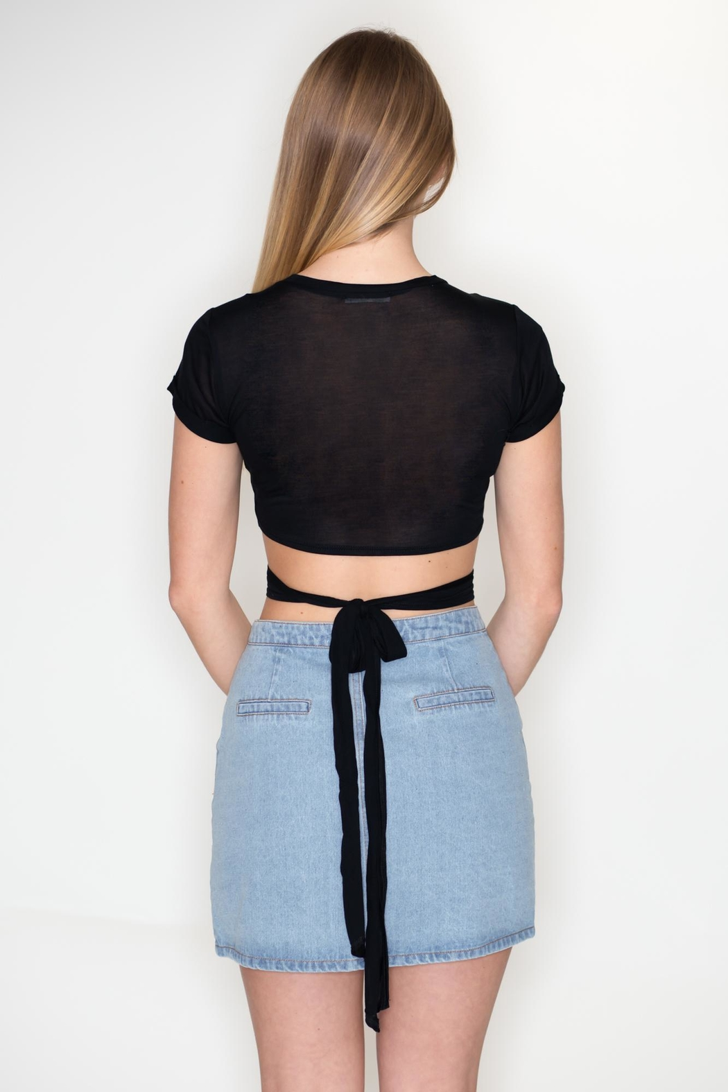 Emory Park Wrap Tie Top - Side Cropped Image