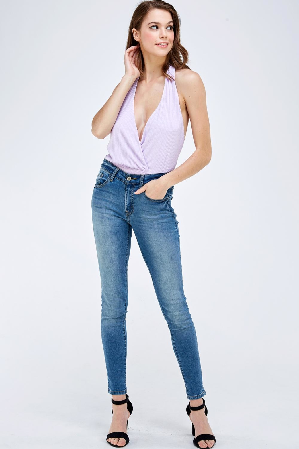 Emory Park Wrapped Front Bodysuit - Side Cropped Image