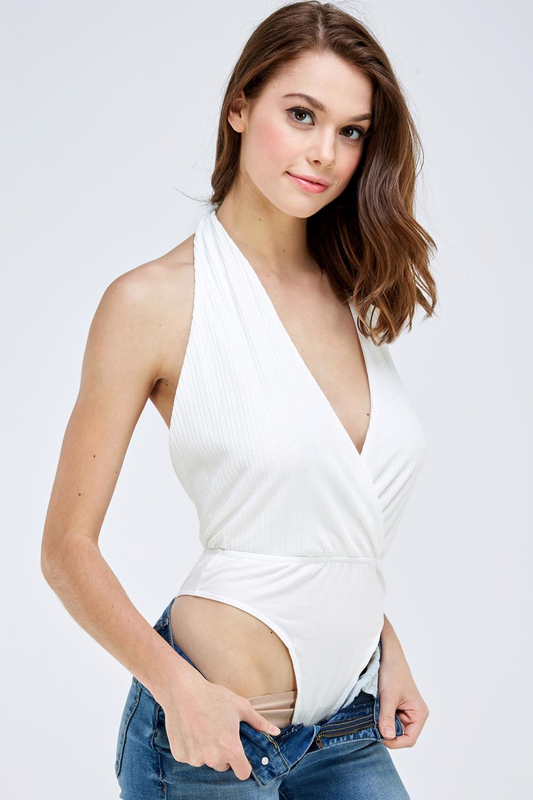 Emory Park Wrapped Front Bodysuit - Front Full Image
