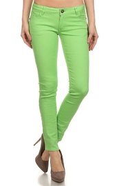 Emperial Lime Skinny Jeans - Product Mini Image