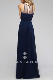 Faviana Empire Chiffon Gown - Front full body