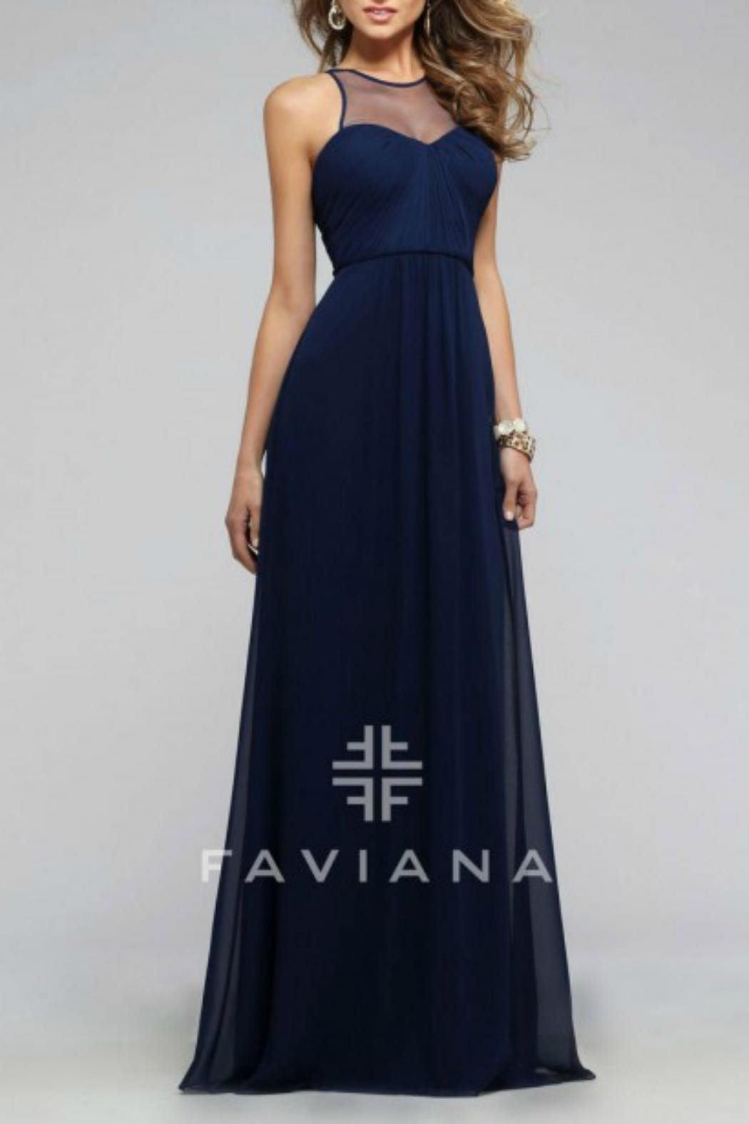 Faviana Empire Chiffon Gown - Main Image