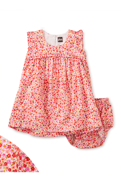 Shoptiques Product: Empire Flutter Baby Dress Set - Wildflowers In Scarlett
