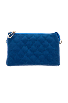Shoptiques Product: Quilted Blue Crossbody