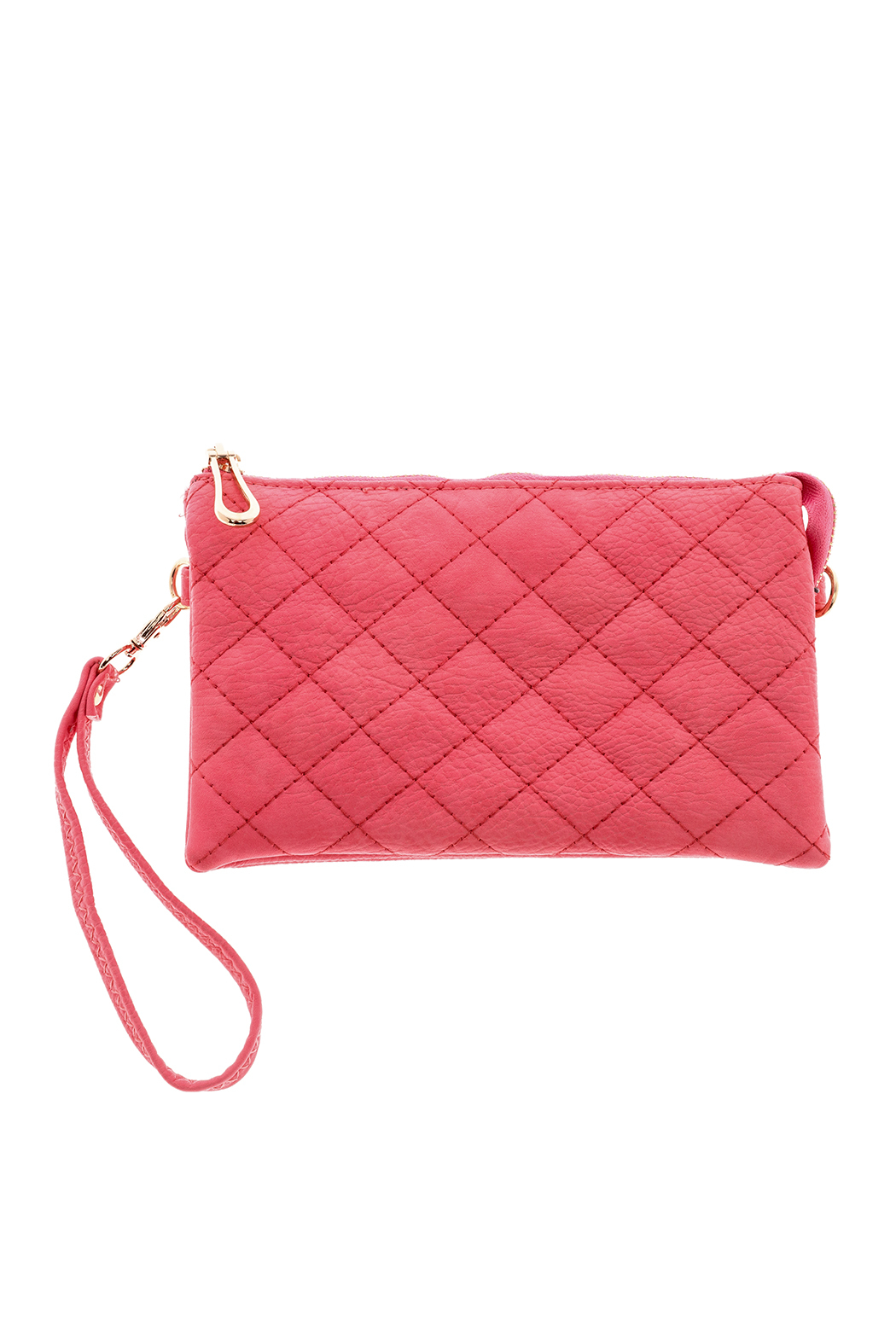 Empire Handbags  Quilted Pink Crossbody - Main Image