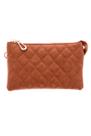 Empire Handbags  Quilted Tan Crossbody - Product Mini Image