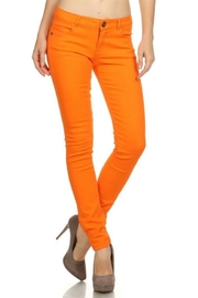 Emperial Orange Skinny Jeans - Product Mini Image