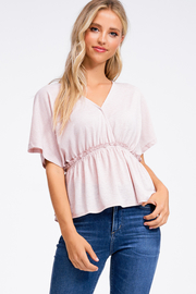 MONTREZ EMPIRE WAIST BOHO TOP - Product Mini Image