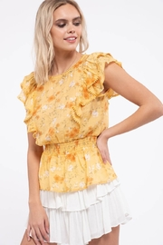 Mine Empire Waist Floral Top - Front full body