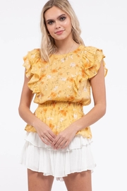 Mine Empire Waist Floral Top - Front cropped