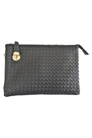 Empire Handbags  Woven Black Crossbody - Product Mini Image