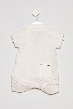 Empress Arts Linen Boys Romper - Alternate List Image