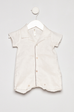 Empress Arts Linen Boys Romper - Product List Image