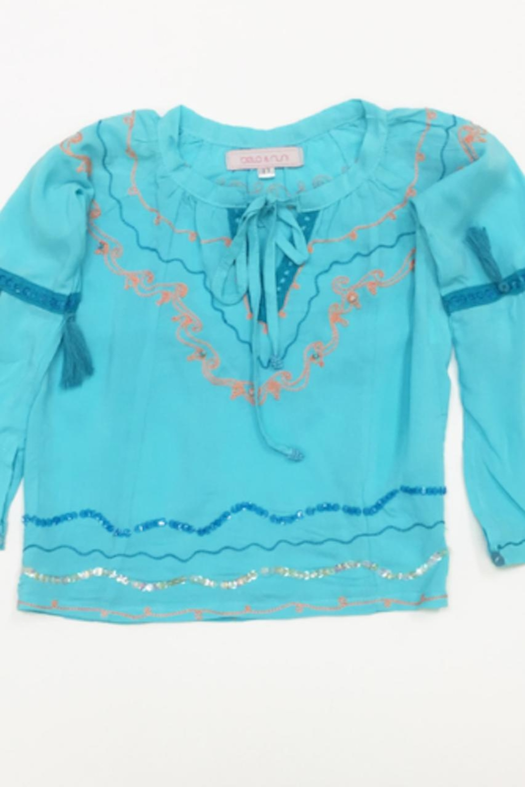 Bela & Nuni Emroidered Voile Tunic - Front Cropped Image