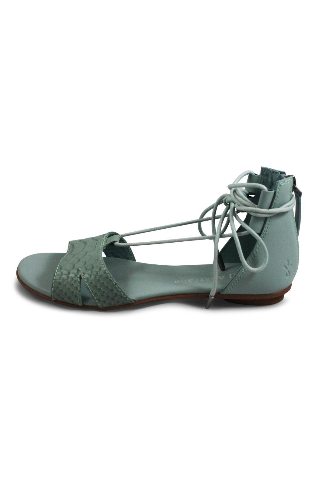 Emu Australia Lace Green Sandal - Front Cropped Image