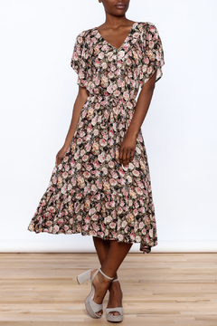 Shoptiques Product: Belted Floral Maxi