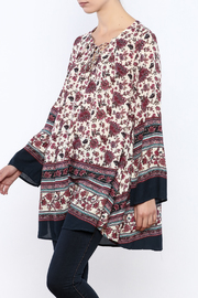 Shoptiques Product: Berry Floral Tapestry Top