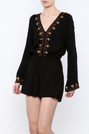 En Creme Black Detailed Romper - Product Mini Image