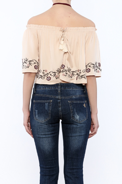 Shoptiques Product: Embroidered Crop Top