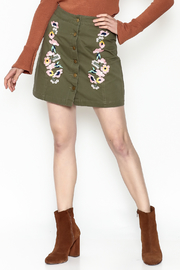 En Creme Floral Mini Skirt - Product Mini Image